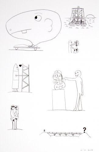 Литография Breuning  - Random thoughts about life 3