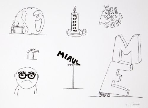 Литография Breuning  - Random thoughts about life 7