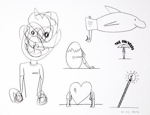 Литография Breuning  - Random thoughts about life 8