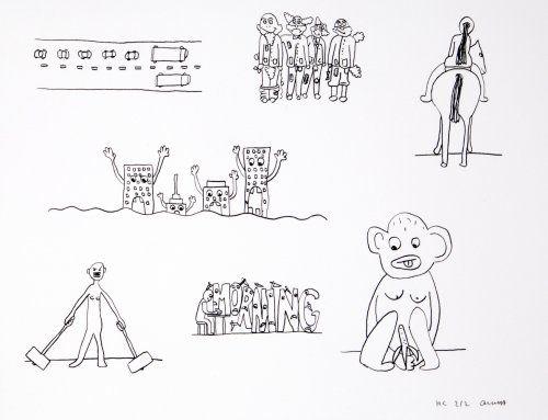 Литография Breuning  - Random thoughts about life 9