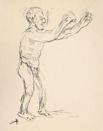 Литография Kokoschka - Reaching Man