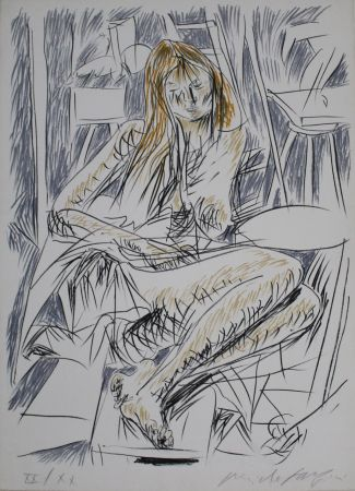 Литография Fazzini - Reading Nude