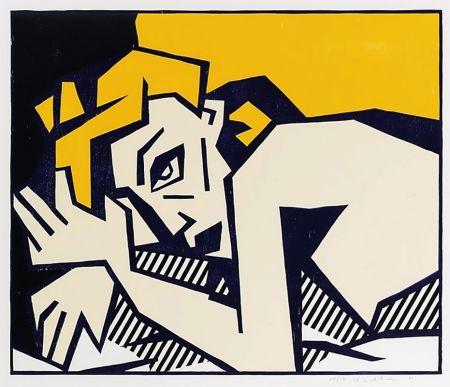 Гравюра На Дереве Lichtenstein - Reclining Nude