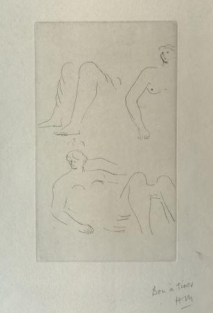 Гравюра Moore - Reclining Nudes