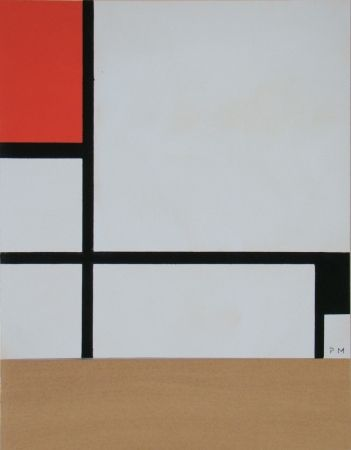 Трафарет Mondrian - Rectangular Composition