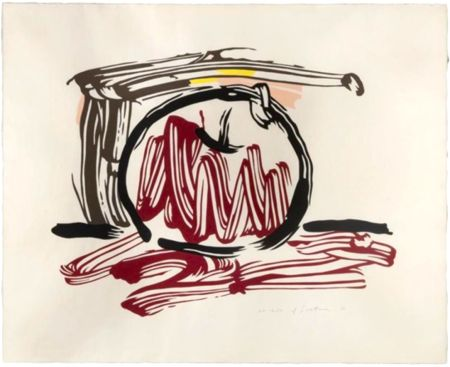 Гравюра На Дереве Lichtenstein - Red Apple, from Seven Apple Woodcuts Series (C. 196)