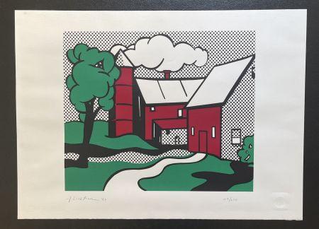 Сериграфия Lichtenstein -  Red Barn