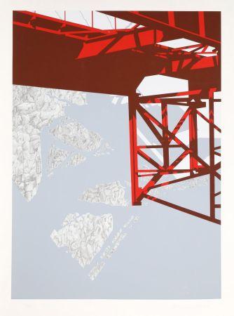 Сериграфия D'arcangelo - Red Bridge