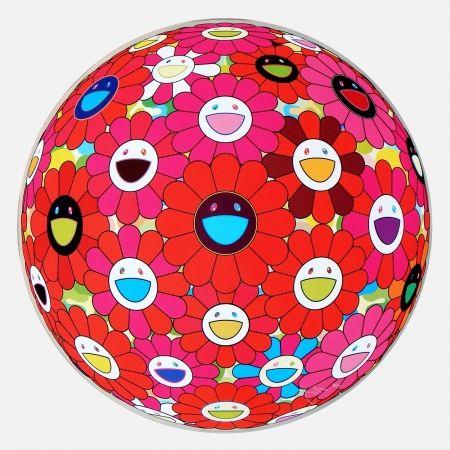 Многоэкземплярное Произведение Murakami - Red Flower Ball (3-D