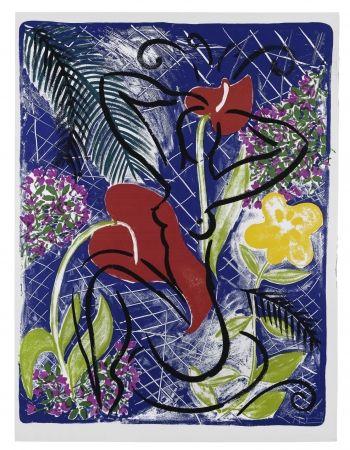 Сериграфия Szczesny - Red Flowers