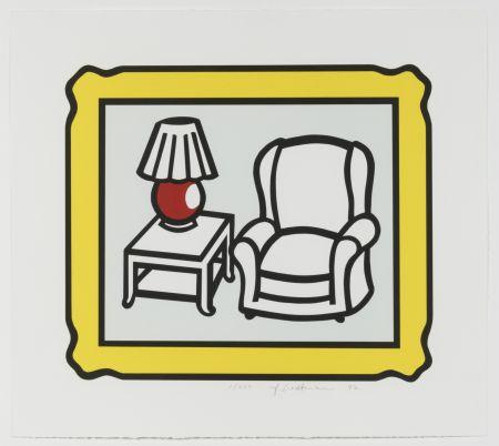 Литография Lichtenstein - Red Lamp