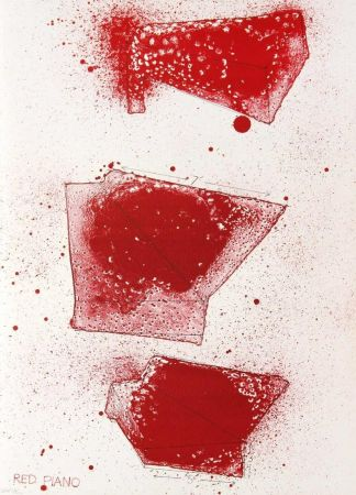 Литография Dine - Red Piano