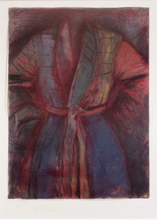 Литография Dine - Red Robe in France