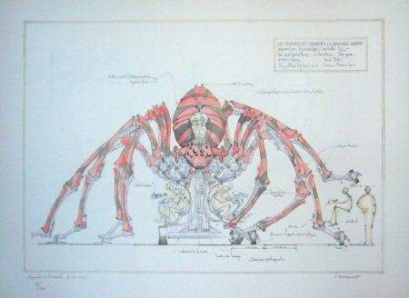 Литография Delarozière - Red spider - la machine - Liverpool