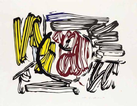 Гравюра На Дереве Lichtenstein - Red & Yellow Apple