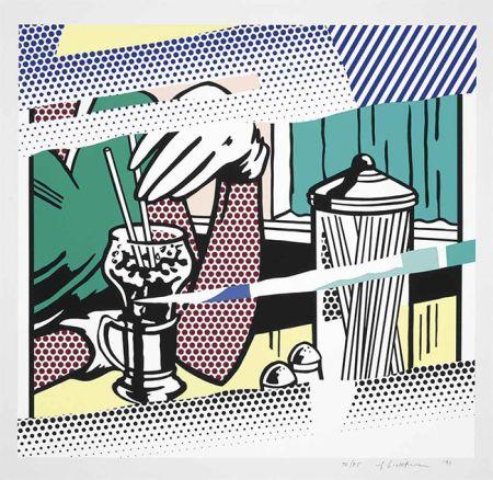 Сериграфия Lichtenstein - Reflections On Soda Fountain
