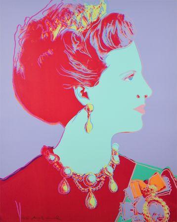 Сериграфия Warhol - Reigning Queens Series, Queen Margrethe II of Denmark (Violet)