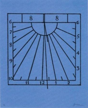 Литография Brossa - Rellotge de sol