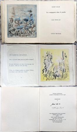 Иллюстрированная Книга Zao - René Char : LES COMPAGNONS DANS LE JARDIN. 4 gravures originales en couleurs (1957)