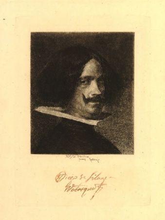 Гравюра Fortuny I Marsal - Retrato de Velázquez