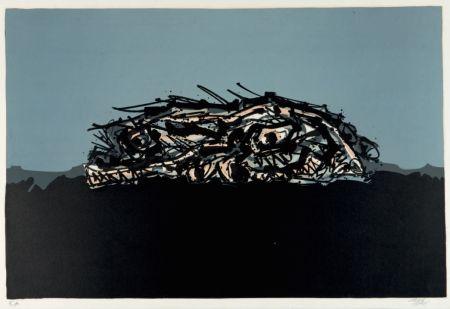 Литография Saura - Retrato imaginario de Goya