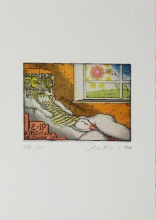 Офорт И Аквитанта Bremer - Rippenvenus am Fenster