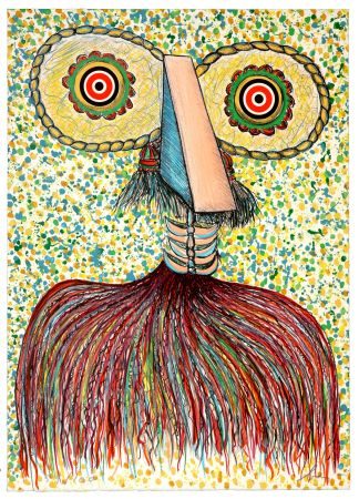 Литография Baj - Ritratto immaginario di Asger Jorn (Portrait imaginaire d'Asger Jorn)