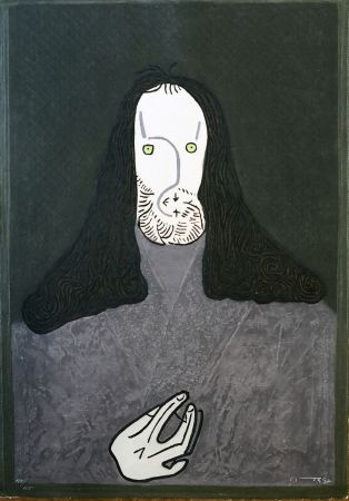 Офорт Ortega - Ritratto mistico di monaco