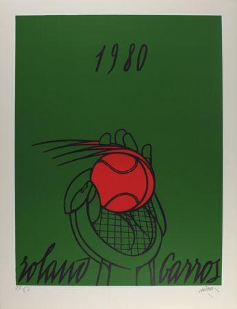 Литография Adami - Roland Garros (vert)