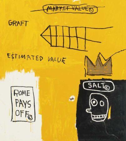 Многоэкземплярное Произведение Basquiat - Rome pays off