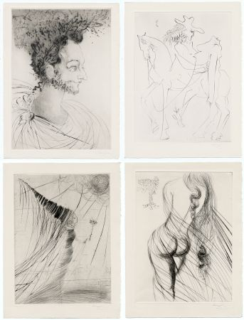 Иллюстрированная Книга Dali - Ronsard : LES AMOURS DE CASSANDRE. 18 pointes-sèches originales. 1968.