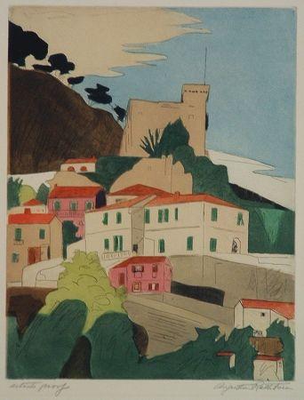 Гравюра Rathbone - Roquebrune, French Riviera