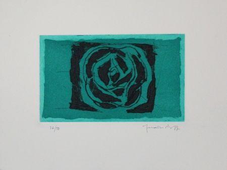 Офорт И Аквитанта Hernandez Pijuan - Rosa verda / Green Rose
