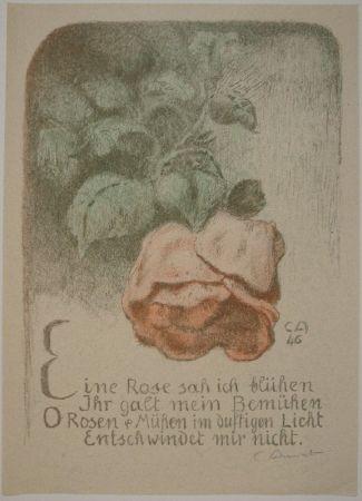 Литография Amiet - Rose