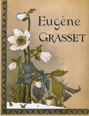 Литография Grasset - Roses de Noël / Christmas Roses