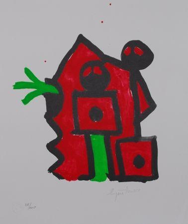 Литография Ionesco - Rouge au noir
