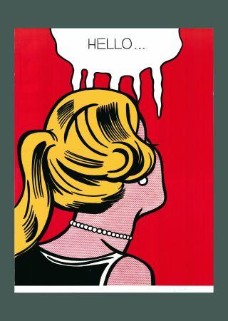 Литография Lichtenstein - Roy Lichtenstein 'Cold Shoulder', Original Pop Art Poster, Hand Signed, 1987