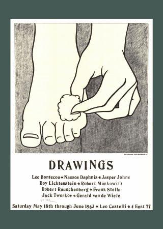 Литография Lichtenstein - Roy Lichtenstein 'Foot Medication (Castelli Mailer)', 1963 Hand Signed Original Pop Art Poster with COA