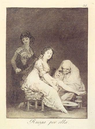 Офорт Goya - Ruega por ella