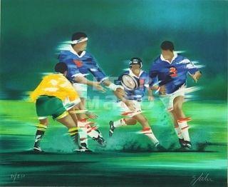 Литография Spahn - Rugby