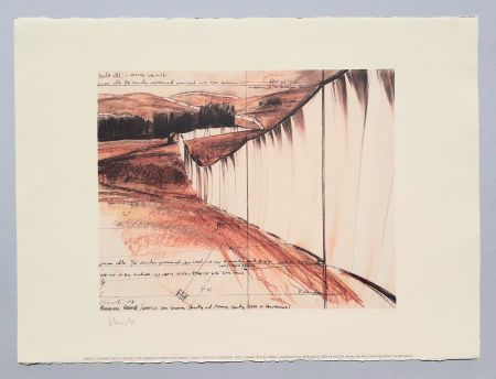 Литография Christo - Running fence, project for Sonoma county and Marin county