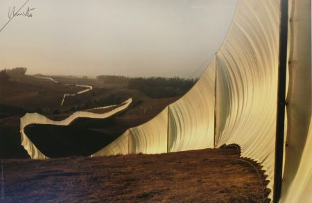 Гашение Christo - Running Fence, Sonoma and Marin Counties, California