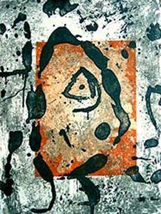 Гравюра Miró - Rupestres
