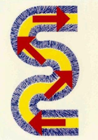 Литография Sugai - S (Flèches rouges)