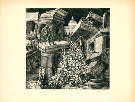 Офорт И Аквитанта Ackermann - Sacco di Roma