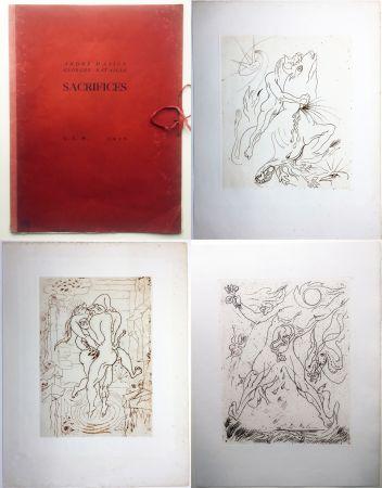 Офорт Masson - SACRIFICES avec un texte de Georges Bataille (GLM 1936).