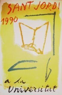 Литография Ràfols Casamada - Saint Jordi 1990