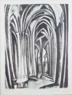 Литография Delaunay - Saint severin