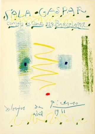 Литография Picasso - Sala Gaspar. Dibujos de Picasso