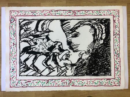 Литография Alechinsky - Sans l'ecorce